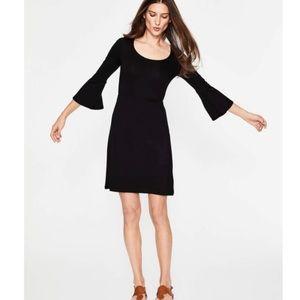 Boden Miriam Black Jersey Tunic Dress Size 8